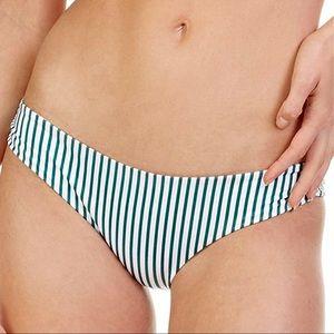 Tori Praver Cabana Emerald Stripe Bikini Bottom